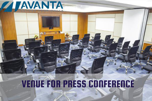 press conference venue avanta business centre