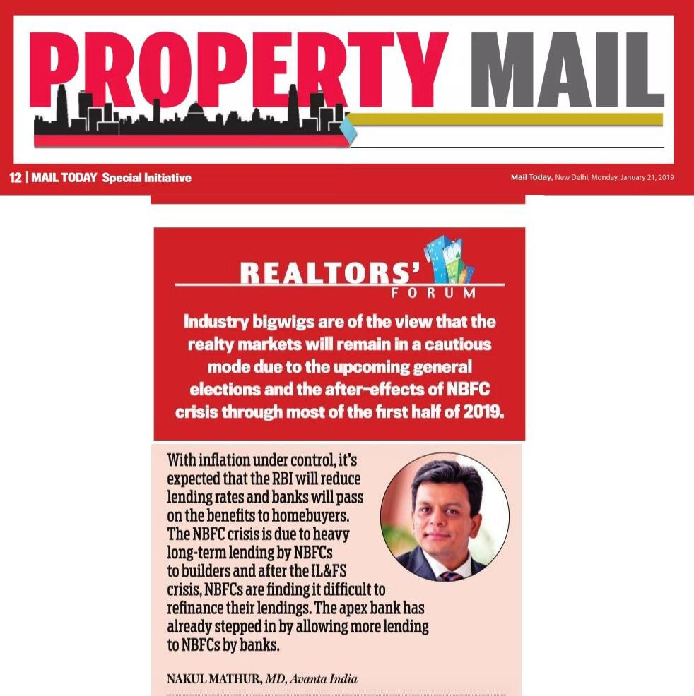 Mail Today - Property Mail January 21, 2019