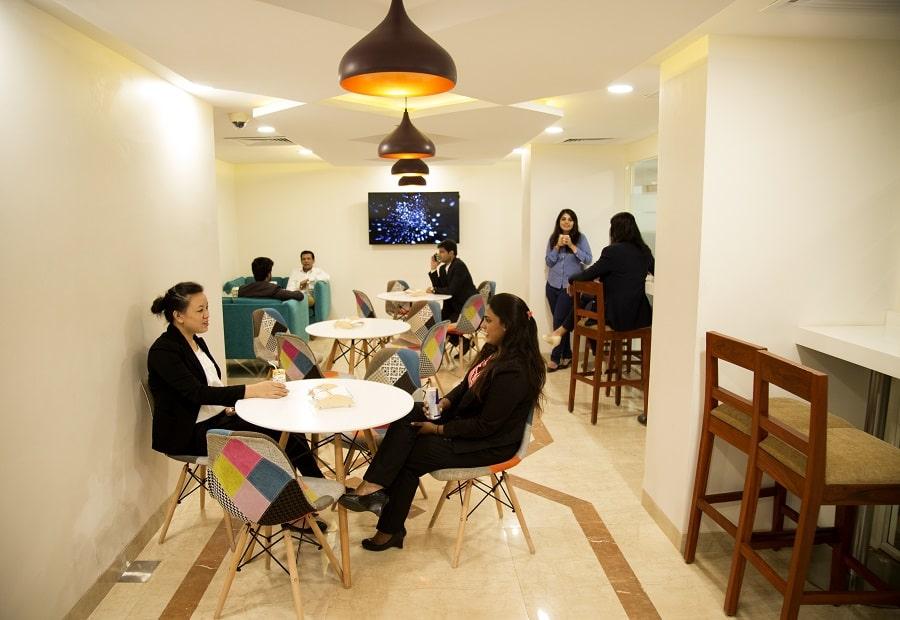 Pantry Area in Coworing Space in Delhi