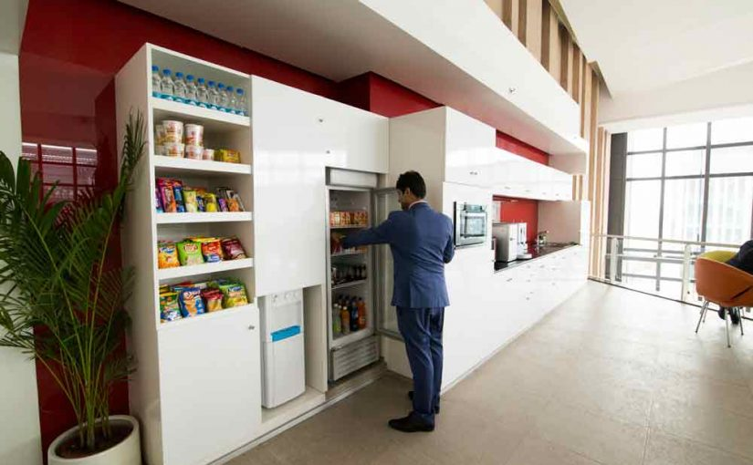 Pantry Area at Office Space in Delhi